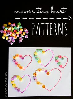 Conversation Heart Patterns - Playdough To Plato