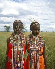 Maasai girls, Kenya, Africa
