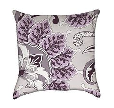 Lavender Oriental Flourish Floral Throw Pillow Cover  Lavender throw pillows are an important part of a well balanced purple home decor.  The idea is that shades of purple, mixed with textures give a bedroom or living room depth and dimension.  Lavender accent pillows also make great gifts and consider giving them as wedding, housewarming or Christmas gifts.