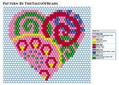 Pearler Bead Patterns, Bead Loom Patterns, Peyote Patterns, Cross Stitch Patterns, Beaded Earrings Patterns, Beading Patterns Free, Heart Patterns, Brick Stitch Earrings, Tapestry Crochet