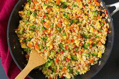 Вегетарианский жареный рис.