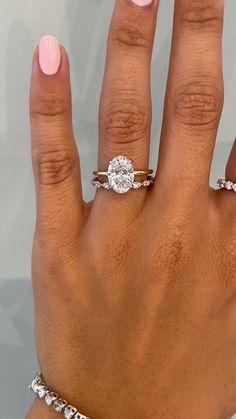 Simple Engagement Ring & Vintage Inspired Diamond Wedding Band