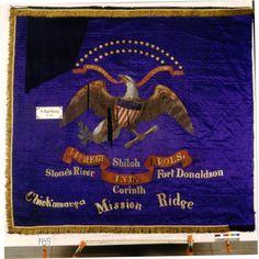Regimental Battle Flag of the Indiana Infantry. Civil War Flags, Civil War Art, Us History, American History, Union Flags, America Civil War, Civil War Photos, Military Flags, Civilization