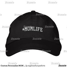 fca9434447c Custom Personalize MOM LIFE Adjustable Dad Hat