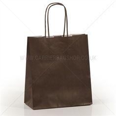 Premium Papiertragetaschen mit Kordelgriffen schokoladenbraun Paper Shopping Bag, Bags, Tan Bag, Packaging, Get Tan, Handbags, Bag, Totes, Hand Bags