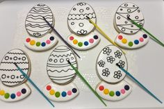 Easter Egg Paint-Your-Own Decorated Sugar Cookies by I Am the Cookie Lady