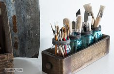 Last week I talked about paint storage ideas. So I thought it would only be appropriate to talk about paint brush storage this week. So he...