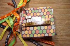 Thanksgiving Premade Mini Scrapbook Album by HampshireRose on Etsy, $25.00