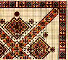 FolkCostume: Hutsul Cross Stitch Embroidery, Ukraine                                                             Pisanki inspiration