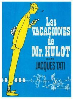 Les vacances de Monsieur Hulot | un film de Jacques Tati | 1953 | De nombreuses versions de cette affiche existent selon les pays ou fut distribué le film.