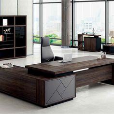Modern Home Office Desk, Executive Office Furniture, Office Furniture Design, Office Interior Design, Office Interiors, Corporate Office Design, Office Cabin Design, Small Office Design, Office Counter Design