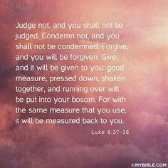 Luke 6:37-38