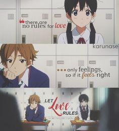 """""""There are no rules for love, only feelings so if it feels right, let love rules..""""    Anime: Tamako Market - Tamako Love Story    © edited by Karunase    karunase.tumblr.com"""