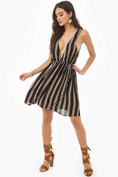 b971697f776  26.0 - Striped V-Neck Mini Dress - - labeltail.com  Striped