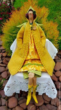 Куклы Тильды ручной работы. Ярмарка Мастеров - ручная работа. Купить Ангел осени. Handmade. Желтый, осеннее украшение