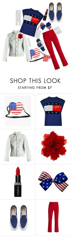 """Celebrate 4th of July with #polyvore #contest #polyvoreeditorial #blueredwhite #polyvoreandroidapp @polyvore"" by bella9627 ❤ liked on Polyvore featuring Tommy Hilfiger, Balenciaga, Gucci, Smashbox, Maison Kitsuné, Bliss and Mischief and Victorinox Swiss Army"