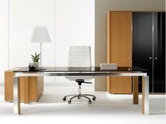 ELECTA Crystal office desk by IFT design Nikolas Chachamis