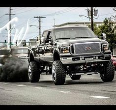Lifted Ford Diesel Trucks With Stacks