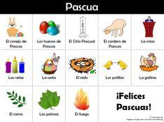 Vocabulario relacionado con la Pascua
