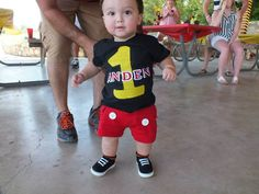 1st Birthday Mickey Mouse outfit!