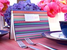 A place card, wedding favor and useful notebook all in one! Learn how to make this #WeddingCraft >> http://www.hgtv.com/design/make-and-celebrate/entertaining/diy-wedding-favors-pictures?soc=pinterest