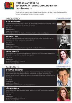 #Agenda da @editoraarqueiro e da #EditoraSextante para a #BienaldoLivroSP http://www.leitoraviciada.com/2014/07/agenda-da-editora-arqueiro-e-da-editora.html  #EditoraArqueiro #BienalSaoPaulo #BienalSP #Eventos #GustavoCerbasi #HarlanCoben #KenFollet #Literatura #LyciaBarros #LigiaGuerra #Bienal #livro #livros #Evento #book #books #blog #blogs #LeitoraViciada #palestra #sessaodeautografos #programacao