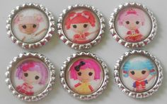 Set of 6 Lalaloopsy inspired flattened by UniquelyYoursByRenee, $5.00