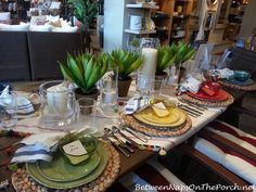 Pottery Barn Summer Table Settings featured on Between Naps on the Porch
