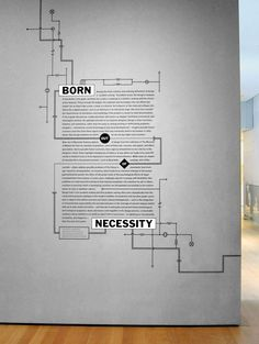 Born Out of Necessity Title Wall, Architecture and Design Galleries, MoMa