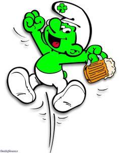 Irish Green Smurf