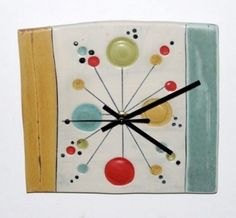 ceramic clock click the link now for more info. Auction Projects, Clay Projects, Ceramic Wall Art, Ceramic Pottery, Pottery Handbuilding, Cool Clocks, The Potter's Wheel, Pottery Painting, Porcelain Ceramics