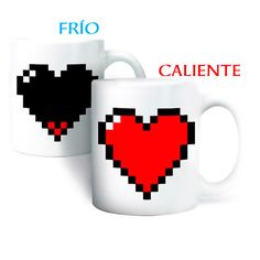 Taza de corazón pixelado (Frío/Calor) :: para el Hogar :: Regalos Originales :: Regalos Originales - Tienda online de regalos - Regatron.es