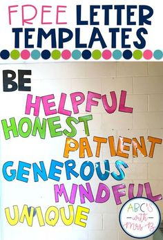 I have a pretty ugly wall in my classroom that was bare and needed some bright colors and decoration. I decided to put up some positive words to build. 2nd Grade Classroom, Classroom Walls, Kindergarten Classroom, Future Classroom, Classroom Themes, Classroom Organization, Quotes For The Classroom, Classroom Design, Positive Classroom Quotes
