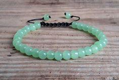 Green chrysoprase bracelet heart chakra от HarmonyLifeShop на Etsy