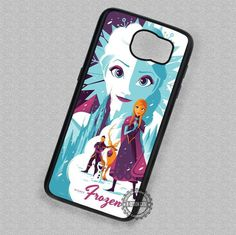 Frozen Digital Art Disney Anna and Elsa Olaf - Samsung Galaxy S7 S6 S5 Note 5 Cases & Covers