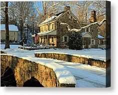 Chester Springs Pa Canvas Prints - The Bridge Home Canvas Print by Stephen Hobbs