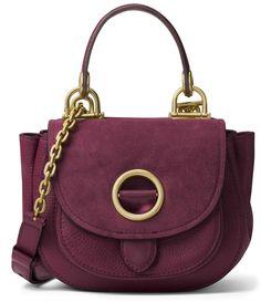 dd278dfd5f MICHAEL Michael Kors Womens Isadore Leather Shoulder Handbag Purple Medium:  Handbags: Amazon.com
