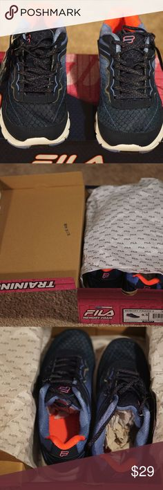 New Fila Women's Memory Finado 2 Training Shoe New Fila Women's Memory Finado 2 Training Shoe - 9.5 US women size Extremely comfortable and durable.  Never taken out of box  Will ship fast and free Please feel free to ask questions, good luck! Fila Shoes Athletic Shoes