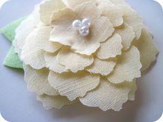 Silhouette Fabric Flower