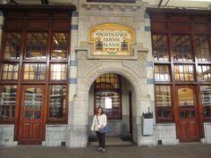 Estação de trem na cidade de Haarlem - Holanda