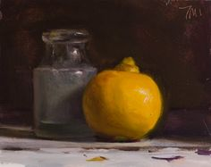 Postcard from Provence » daily painting titled Bergamot with antique ink bottle