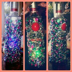 Bejewled ciroc bottle 21st birthday ideas for girls