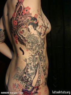 Unbelievable geisha tattoo