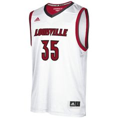 Nike Men's Louisville Cardinals Replica Basketball Jersey (3,915 PHP) ❤ liked on Polyvore featuring men's fashion, men's clothing, men's activewear, men's activewear tops, white, mens basketball jerseys and mens jerseys