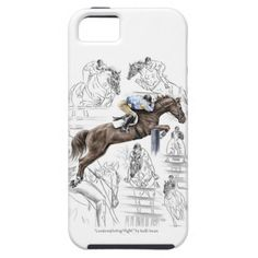 Jumping Horses Montage iPhone 5 Case