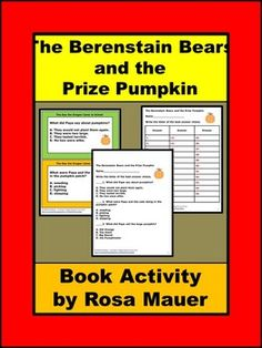 The Berenstain Bears and the Prize Pumpkin Thanksgiving Literacy