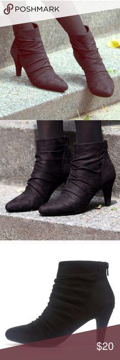"Black booties 3"" heel black booties Rialto Shoes Ankle Boots & Booties"