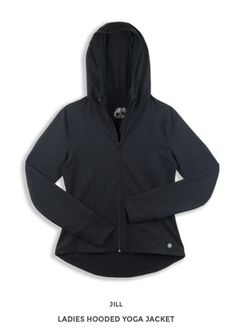 Jill Yoga, Ladies Hooded Jacket, Ladies Yoga Jacket, Toronto, Fashionable and Affordable Ladies Hooded Jacket, Yoga Wear, Holiday Gift Guide, Spring Summer 2015, Yoga Inspiration, Active Wear For Women, Hoods, Gifts For Her