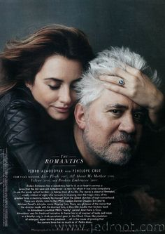 Penelope Cruz and Pedro Almodóvar by Annie Leibovitz