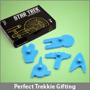 Should this go on my food board or my funny board? I just don't know! ... Star Trek Cookie Cutters (from Think Geek). Love it.